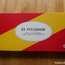 Juegos de mesa: JUEGO MESA EL INVERSOR, AÑOS 80,. Lote 86273808