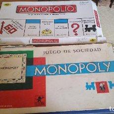 Juegos de mesa: LOTE DE MONOPOLY - MONOPOLY BARCELONA ANTIGUO - MONOPOLIO JUEGO MODERNO. Lote 87697736