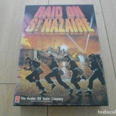 Juegos de mesa: JUEGO WARGAME - RAID ON ST. NAZAIRE - AVALON HILL 1987 - PARCIALMENTE SIN DESTROQUELAR. Lote 87710896