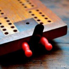 Juegos de mesa: TABLERO DE MADERA * CRIBBAGE * CRIB * CONTADOR DE JUEGO DE CARTAS INGLES. Lote 89091376