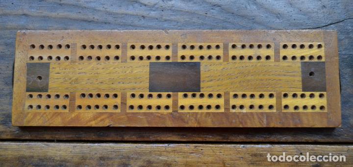 Juegos de mesa: TABLERO DE MADERA * CRIBBAGE * CRIB * CONTADOR DE JUEGO DE CARTAS INGLES - Foto 3 - 89091376