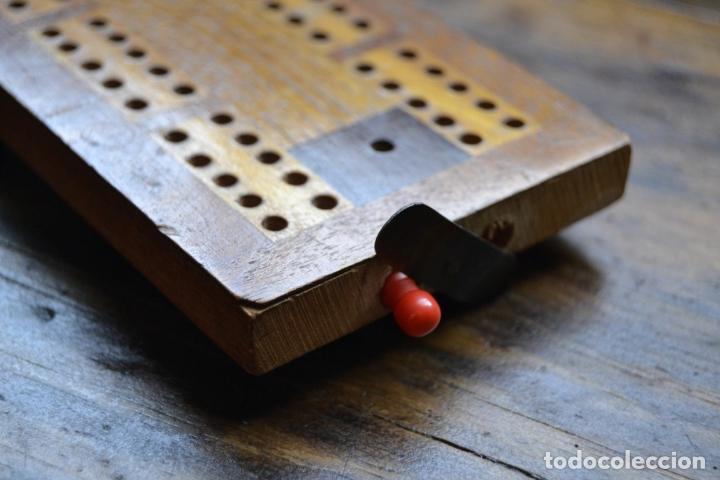 Juegos de mesa: TABLERO DE MADERA * CRIBBAGE * CRIB * CONTADOR DE JUEGO DE CARTAS INGLES - Foto 4 - 89091376