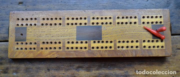Juegos de mesa: TABLERO DE MADERA * CRIBBAGE * CRIB * CONTADOR DE JUEGO DE CARTAS INGLES - Foto 5 - 89091376