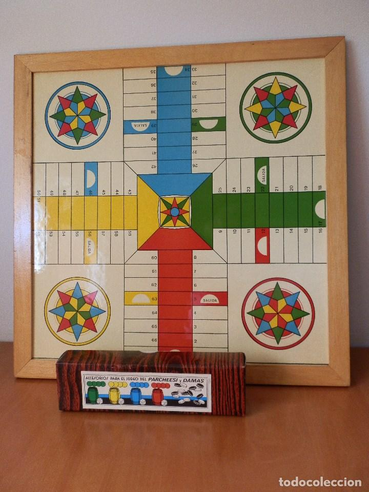 Tablero De Parchis Y Damas Con Caja Accesorios Comprar Juegos De