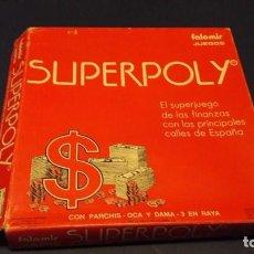 Juegos de mesa: JUEGO SUPERPOLY (MONOPOLY ESPAÑOL) CON PARCHIS,OCA,DAMAS,3 EN RAYA. AÑOS 80. Lote 90423514