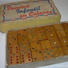 Juegos de mesa: ANTIGUO DOMINO INFANTIL EN COLORES..COMPLETO..MUY PEQUEÑO.. Lote 90767310