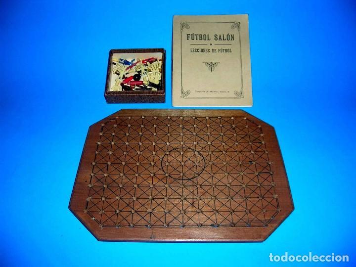 Juegos de mesa: Interesante juego de mesa Fútbol Salón, completo, jugadores, instrucciones, Barcelona año 1924. - Foto 5 - 90773130