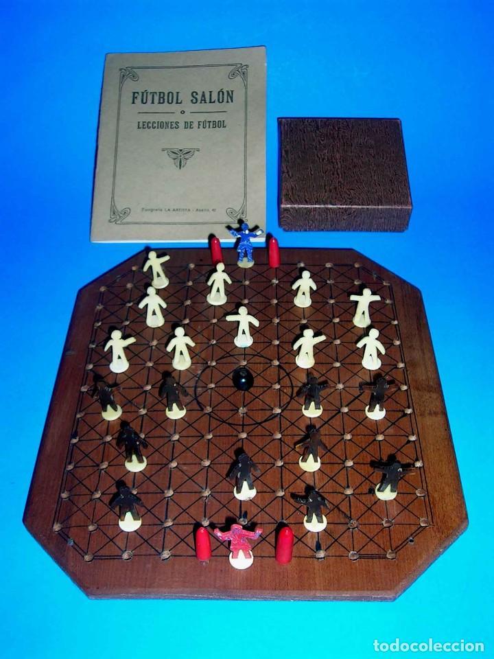 Juegos de mesa: Interesante juego de mesa Fútbol Salón, completo, jugadores, instrucciones, Barcelona año 1924. - Foto 7 - 90773130