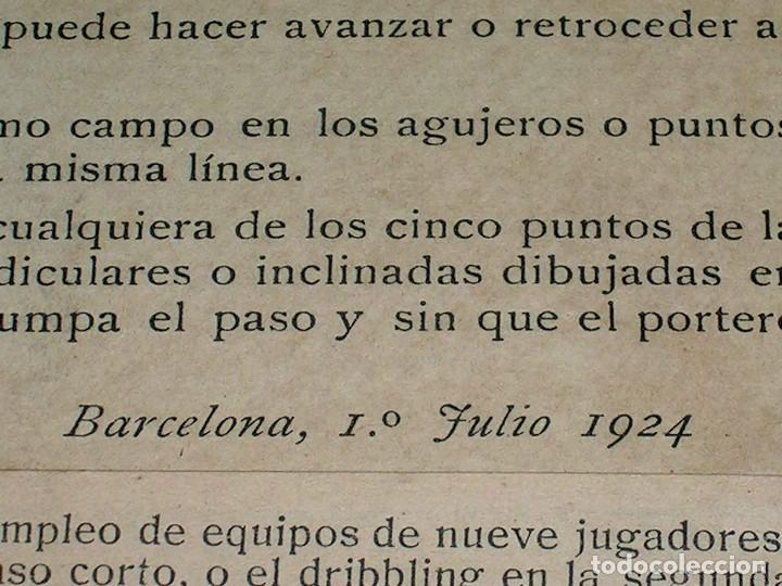 Juegos de mesa: Interesante juego de mesa Fútbol Salón, completo, jugadores, instrucciones, Barcelona año 1924. - Foto 8 - 90773130