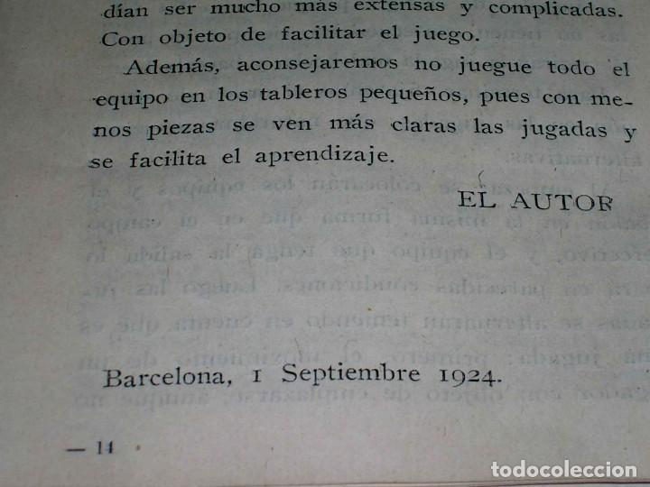 Juegos de mesa: Interesante juego de mesa Fútbol Salón, completo, jugadores, instrucciones, Barcelona año 1924. - Foto 10 - 90773130