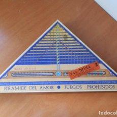 Juegos de mesa: ANTIGUA CAJA JUEGO PIRÁMIDE DEL AMOR. JUEGOS PROHIBIDOS. NIVEL 2 DE CEJU MADE IN SPAIN. Lote 91495095