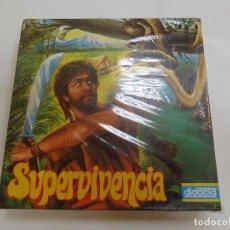 Juegos de mesa: JUEGO DE MESA SUPERVIVENCIA DIDACTA AÑOS 80 . Lote 91766125
