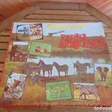 Juegos de mesa: FELIX RODRIGUEZ DE LA FUENTE AMIGO DE LOS ANIMALES PRESENTA JUEGO FAUNA AFRICANA DE FELP. Lote 91856345