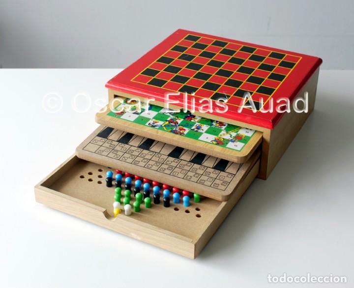 Antigua Caja Tipo Cajonera De Madera Con Table Comprar Juegos De
