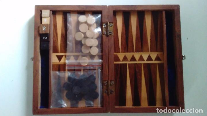 Juego De Backgammon En Caja De Madera Con Marqu Comprar Juegos De