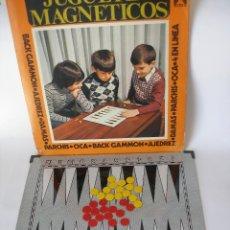 Juegos de mesa: JUGUETES MAGNETICOS RIMA BACK GAMMON REF. 2021 TAMAÑO GRANDE AÑOS 70 - SIN USO. Lote 92778750