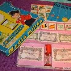 Juegos de mesa: ANTIGUO JUEGO DEL MEDIO MILLON - CON CAJA E INSTRUCCIONES - AÑOS 50 / 60 - JUGUETES BORRAS. Lote 92934225