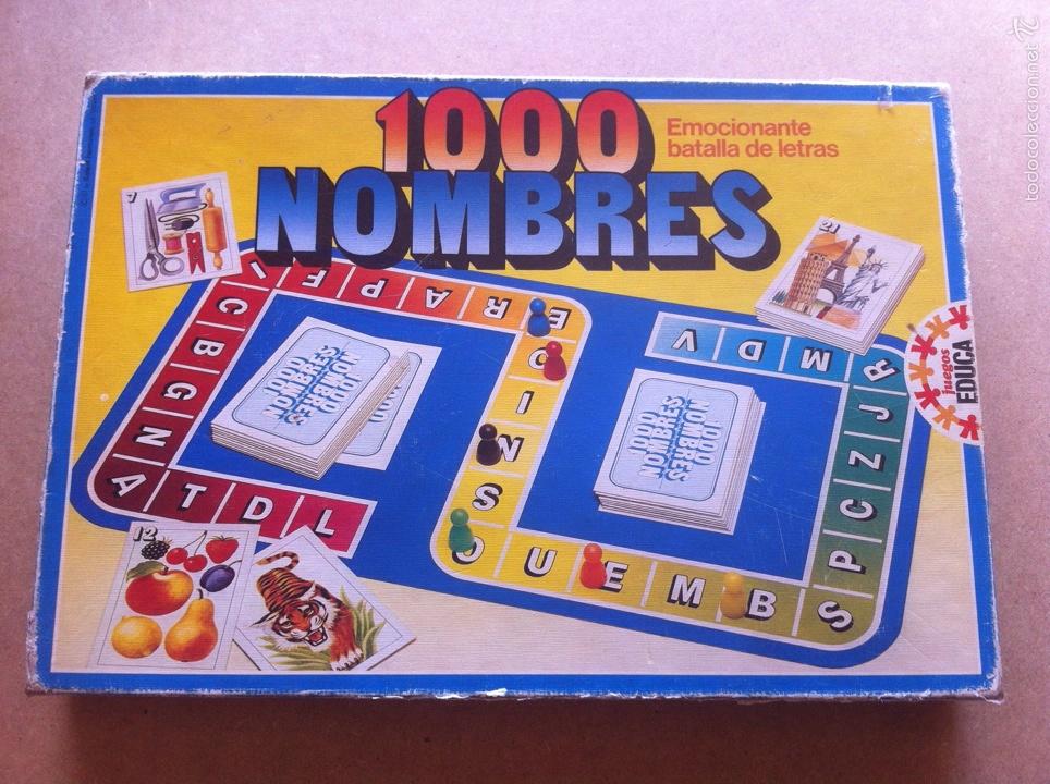 Juego 1000 Nombres Educa Antiguo Comprar Juegos De Mesa Antiguos