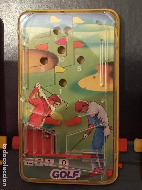 Juegos de mesa: Lote de 3 pin ball de mesa Obertoys A estrenar ESPAÑA IBI ALICANTE AÑOS 80 - Foto 3 - 94413450