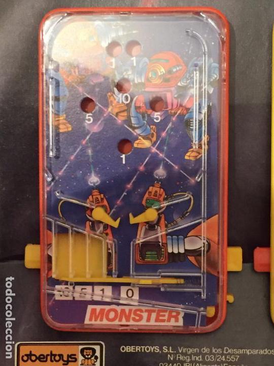 Juegos de mesa: Lote de 3 pin ball de mesa Obertoys A estrenar ESPAÑA IBI ALICANTE AÑOS 80 - Foto 4 - 94413450
