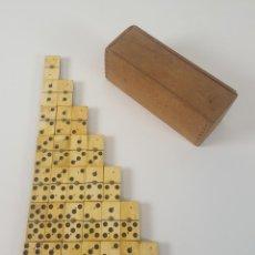 Juegos de mesa: DOMINO EN HUESO Y MADERA EBONIZADA. ESPAÑA. SIGLO XIX. . Lote 94862899