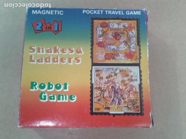JUEGOS MACNETICOS DOS EN UNO - ROBOT GAME - SNAKES & LADDERS (Juguetes - Juegos - Juegos de Mesa)