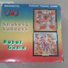 Juegos de mesa: JUEGOS MACNETICOS DOS EN UNO - ROBOT GAME - SNAKES & LADDERS. Lote 95546391