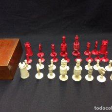 Juegos de mesa: ANTIGUO JUEGO DE AJEDREZ. HUESO DE MAMUT. Lote 95688471