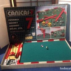 Juegos de mesa: CANICAS 7 PETANCA,HOCKEY,CROQQUET,BOLOS,ETC. Lote 96636411
