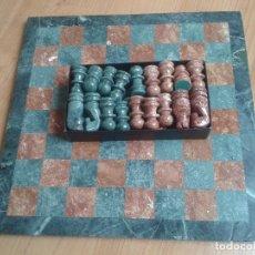 Juegos de mesa: PRECIOSO AJEDREZ DE MÁRMOL HECHO A MANO -- MARMOL DE TRAVENTINO DI RAPOLANO - TOSCANA ITALIA. Lote 96690311