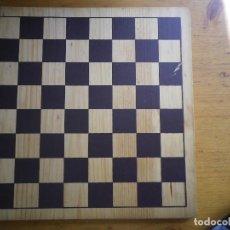 Juegos de mesa: TABLERO MADERA AJEDREZ, DAMAS. Lote 96756203