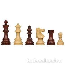 Juegos de mesa: CHESS. JUEGO DE PIEZAS DE AJEDREZ CLÁSICAS CAOBA DE MADERA PLOMADAS. GRANDES 95MM. Lote 143276868