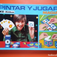 Juegos de mesa: PINTAR Y JUGAR, MAGIA, PELIKAN, AÑOS 70. Lote 96989107
