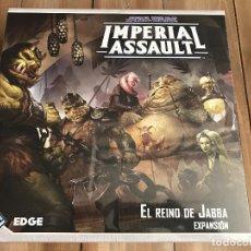 Juegos de mesa: STAR WARS: IMPERIAL ASSAULT - EL REINO DE JABBA - EDGE - JUEGO DE AVENTURAS Y ESTRATEGIA. Lote 97297979