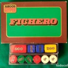 Juegos de mesa: ANTIGUO FICHERO JUEGOS GEYPER - 100 FICHAS VALORES 500, 200, 100, 50, 25 Y 5 . Lote 97350623