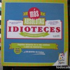 Juegos de mesa: JUEGO MAS ABSOLUTAS IDIOTECES - POPULAR DE JUGUETES . Lote 112840320