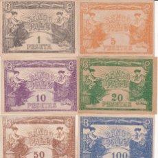 Juegos de mesa: JUEGO DEL PALE ( 1940): 217 BILLETES ORIGINALES CON TODOS LOS VALORES. Lote 97854191
