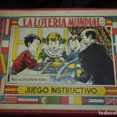 Juegos de mesa: LA LOTERÍA MUNDIAL,JUEGO INSTRUCTIVO AÑOS 40.. Lote 98157127