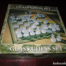 Juegos de mesa: AJEDREZ DE CRISTAL GLASS CHESS SET. Lote 99312223