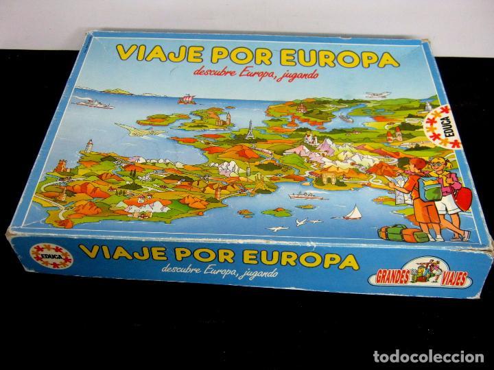 Viaje por Europa Educa - juego de mesa segunda mano