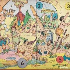 Juegos de mesa: == RR36 - ANTIGUO TABLERO DE JUEGOS REUNIDOS - ILUSTRADO POR KARPA - DISTRACCIONES PREHISTORICAS. Lote 99859747
