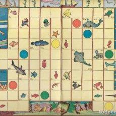 Juegos de mesa: ** HR470 - ANTIGUO TABLERO DE JUEGOS REUNIDOS - ILUSTRADO POR KARPA - CONCURSO DE PESCA. Lote 99861431