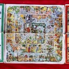 Juegos de mesa: ANTIGUOS TABLEROS DE JUEGO CREACIONES COROMINAS 1950 JUEGO DE LA OCA PARCHIS Y OTRO CARTÓN 29,5X29,5. Lote 100195979