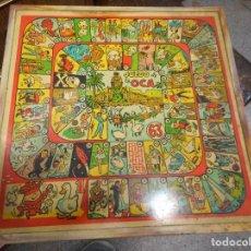 Juegos de mesa: ANTIGUO TABLERO JUEGO DE LA OCA Y PARCHIS. Lote 172925663