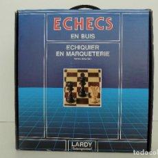 Juegos de mesa: AJEDREZ DE MADERA. MARCA LARDY. ORIGINAL AÑOS 80. NUEVO, A ESTRENAR!. Lote 100445023