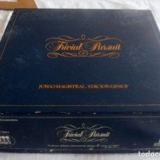 Juegos de mesa: TRIVIAL PURSUIT, JUEGO MAGISTRAL EDICION GENUS. Lote 100761207