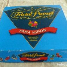 Juegos de mesa: TRIVIAL PURSUIT, PARA NIÑOS. Lote 100761951