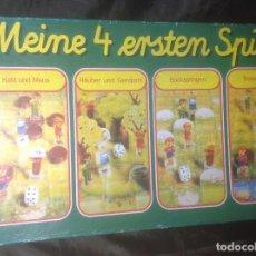 Juegos de mesa: JUEGO DE MESA ALEMÁN MEINE 4 ERSTEN SPIELE DE SCHMIDT SPIELE. Lote 101955087
