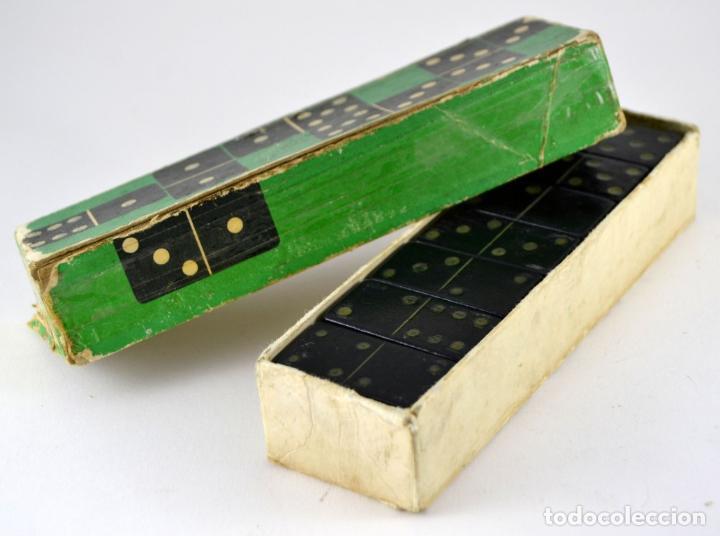 Juegos de mesa: Raro y Antiguo Domino JUMBO - Madera ebonizada / Unico en la red / Ideal Coleccionistas / Completo - Foto 2 - 102631167