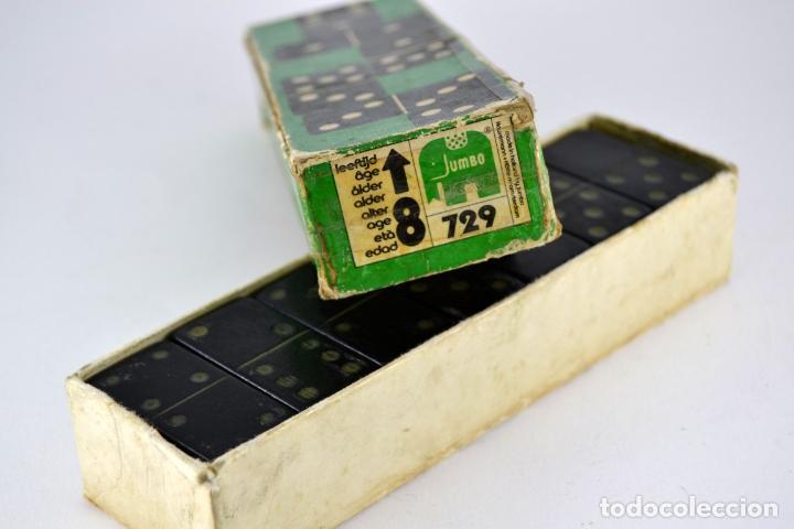 Juegos de mesa: Raro y Antiguo Domino JUMBO - Madera ebonizada / Unico en la red / Ideal Coleccionistas / Completo - Foto 3 - 102631167
